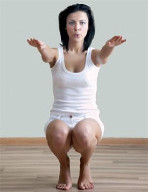 Приседания для похудения